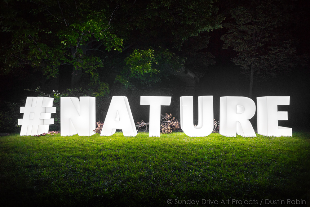 Documentation of #NATURE by Sean Martindale, August 2015