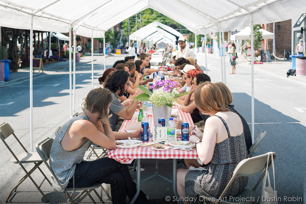 Documentation of The Very Long Lunch by Basil AlZeri, August 2015