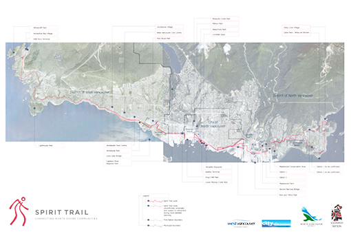 The Spirit Trail, Proposed Route Along the North Shore of Burrard Inlet, BC