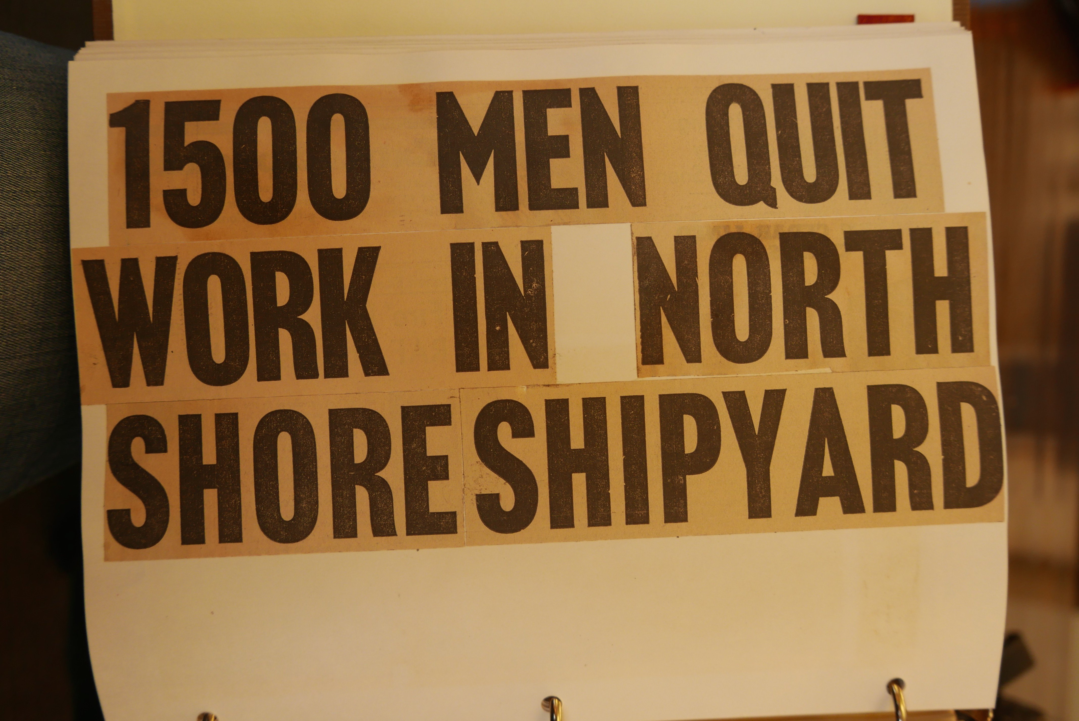 Burrard Drydock, Newspaper Clippings, North Vancouver Archives, Research phase, 2016.