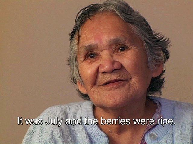 Julia George, still from video, Elders' Stories