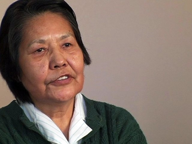 Mary Jane Laurent, still from video, Elders' Stories