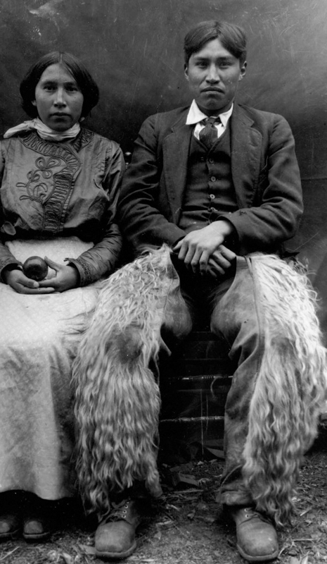 Elanie Charleyboy and Chief William Charleyboy, Photograph by C.D. Hoy, c. 1910, Barkerville Historic Town, P1583