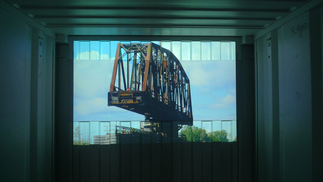 Island, Installation View, Still from Video Projection