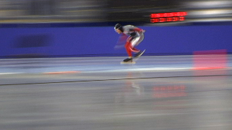 Speed Skaters, B-roll, still from video