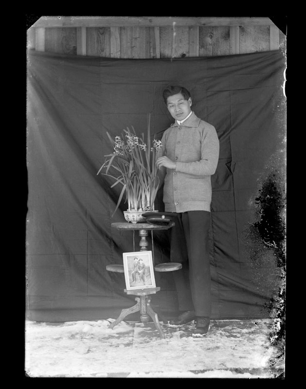 Self Portrait, Portrait by C.S. WIng, c. 1910, Quesnel and District Museum and Archives #P2004_1_110