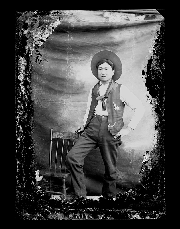 Kong Sing, Portrait by C.S. WIng, c. 1910, Quesnel and District Museum and Archives #P2004_1_64