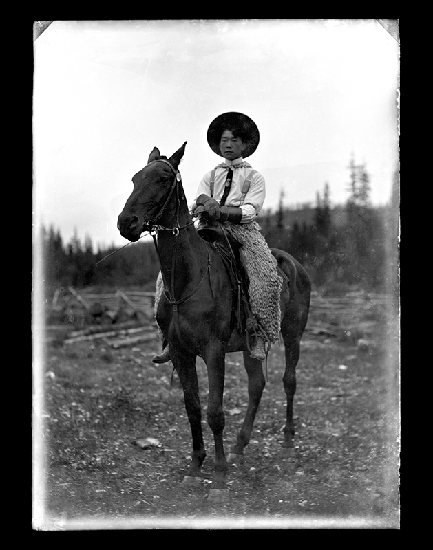 Him Sing, Portrait by C.S. WIng, c. 1910, Quesnel and District Museum and Archives #P2004_1_79