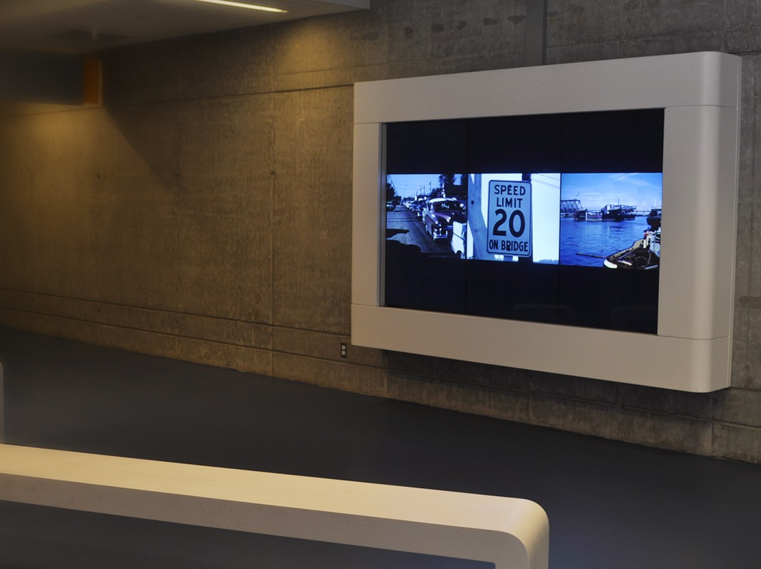 For Mitchell Island, from 17 Films for 17 Islands, Installation View, Richmond Olympic Oval